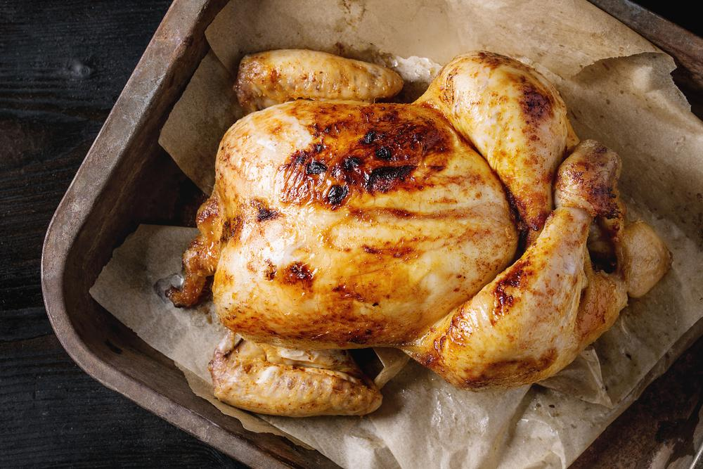 Kurczak pieczony z sosem agrestowym